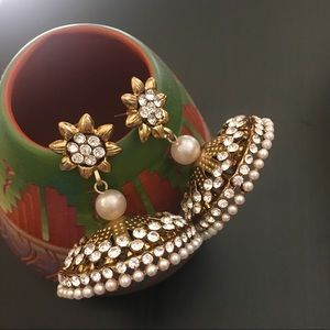 Jewelry - Bollywood Style Golden Drops
